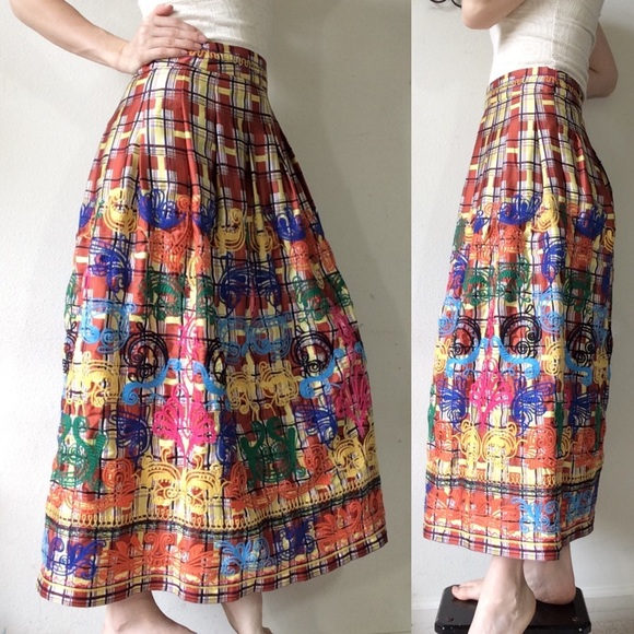 Zara Dresses & Skirts - Zara Embroidered rainbow Maxi Skirt
